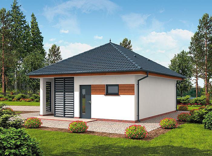 Zbudujemycom Domy Drewniane Garaż Drewniany Extra Funkcjonalny