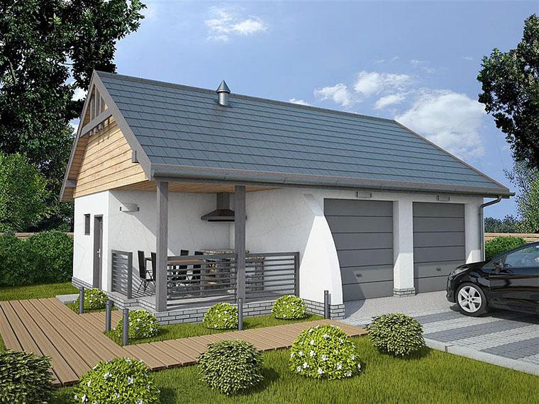 Zbudujemycom Domy Drewniane Garaż Drewniany G42a