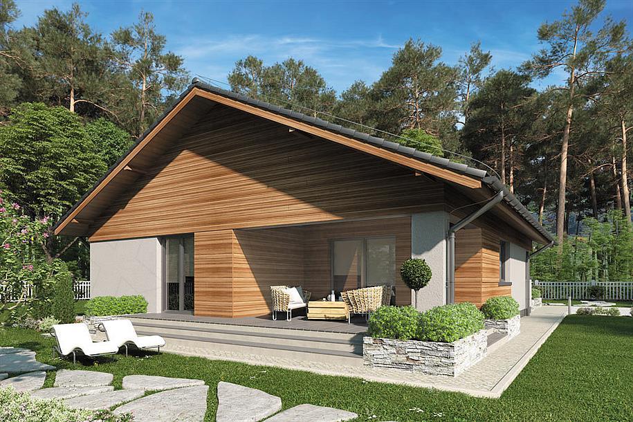 Aktualne Zbudujemy.com Domy Drewniane Dom nowoczesny Kos IV SZ JP86