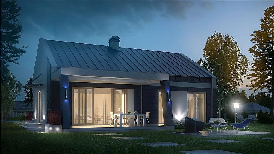 Dodatkowe Zbudujemy.com Domy Drewniane Dom nowoczesny Z 256 D LU19